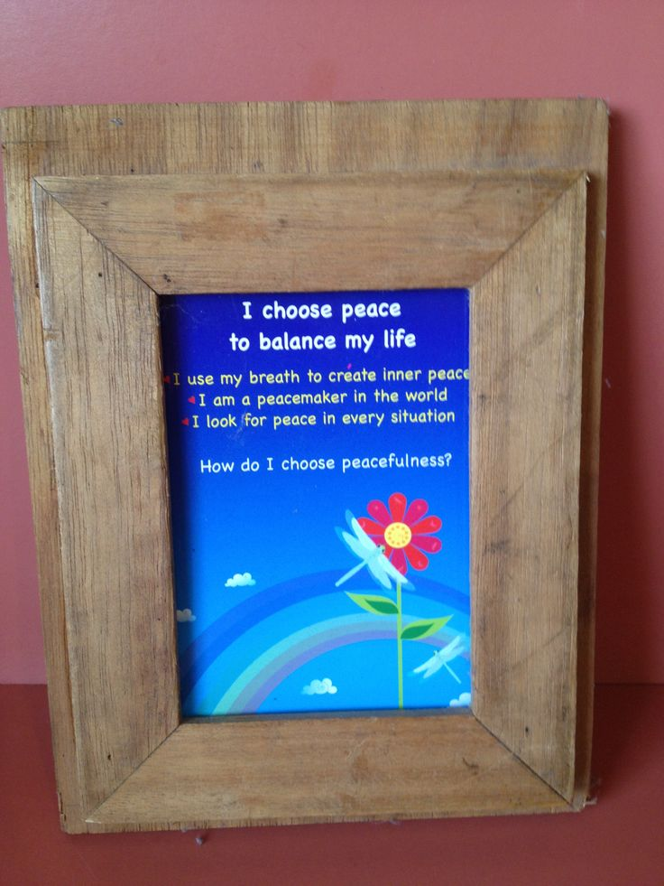 A great way to make one of the Harmony Cards a focus for the week.  Put it in a frame as a gentle reminder to encourage and nurture Peacefulness.