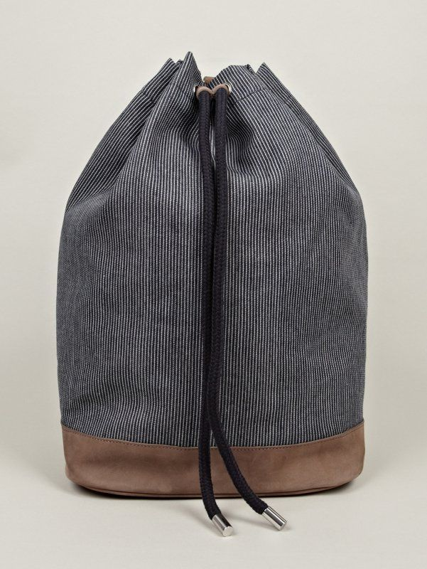 The A.P.C. Men's Marine Bag for SS13, seen here in marine blue. £240.00