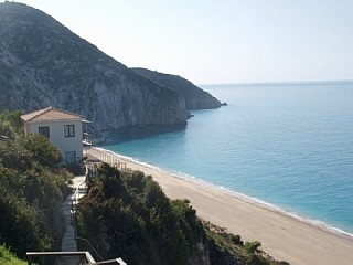 The Only Really Beachfront Villa in Lefkas