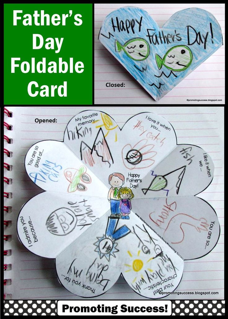 "Father's Day Printable Card: In this Father's Day activity, your students will be drawing or writing about their dad or special person in their lives. The are nine variations of the ONE card, including open-ended options to meet the individual needs of all your students. Some of the templates say ""special person"" instead of ""Father's Day"". This craft activity works well year after year for multiple grade levels due to the different templates and writing or drawing options."
