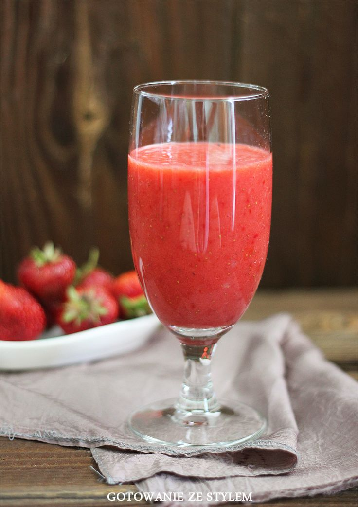 Cocktail Strawberry Banana | gotowanie ze stylem