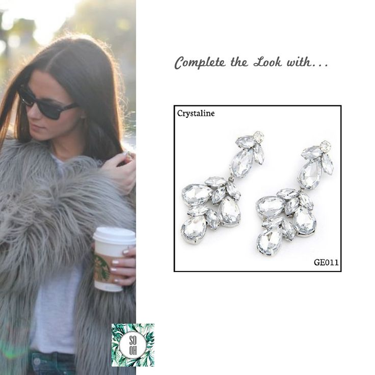 Ref: GE011 Crystaline Medidas: 6.6 cm x 2.8 cm So Oh: 7.99  #sooh_store #onlinestore #style #inspiration #styleinspiration #brincos #earrings #fashion #shoponline #aw2016 #aw1617 #winterstyle