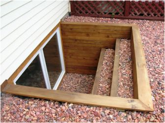 egress window wells | This egress window well is timber sided and like mant I find in my ...