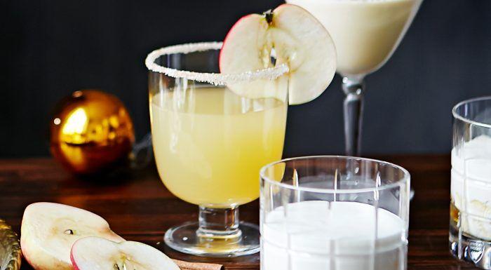 Vintercocktail med äpple, ingefära och kanel