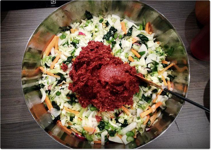 Jeg ELSKER kimchi. <3 Kimchi er rett og slett det desidert beste jeg vet av fermentert mat! I tillegg er det så utrolig enkelt å lage og veldig lett å få til. Mange som begynner med fermentering/melkesyregjæring får problemer med mugg av ulike årsaker, men med kimchi skjer dette sjeldent. Følg denne enkle oppskriften for …