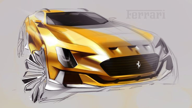 Ferrari SUV sketch by Dr.