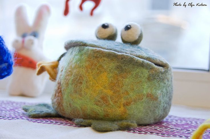 Felted Froggy...  Gallery.ru / Фото #47 - SMALL INTERIOR OBJECTS - renew