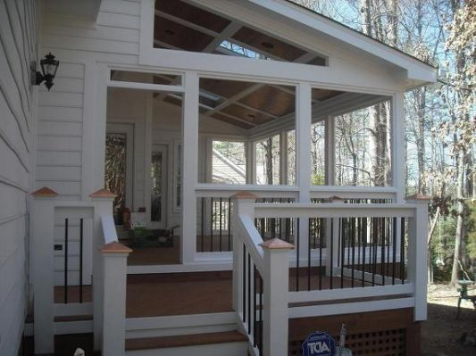 Shed Roof Over Deck Photo Outdoor Porch In 2019 Porch
