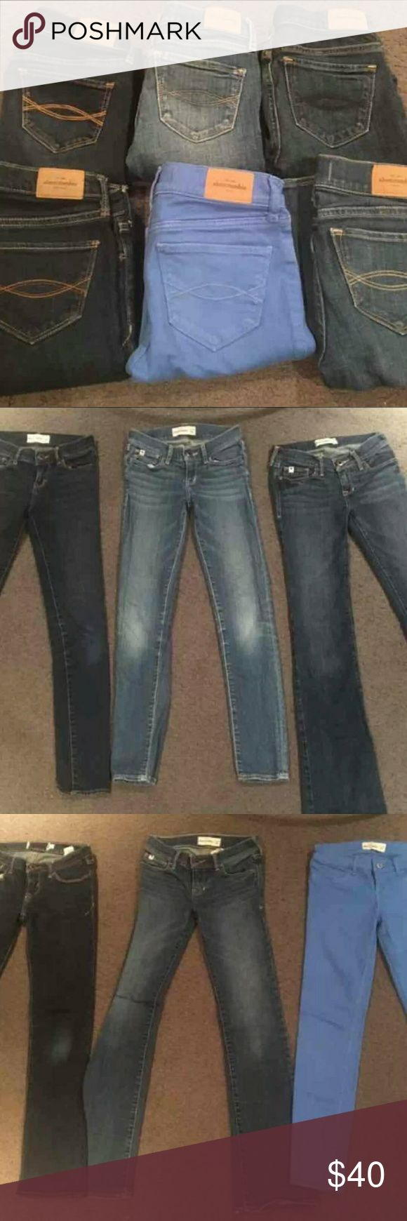 Lot of 6 pairs of abercrombie girls jeans size 12 Abercrombie girls jeans size 12 slim . Lot of 6 pairs Great deal one pair goes for atleast $22 a pair each abercrombie kids Bottoms Jeans