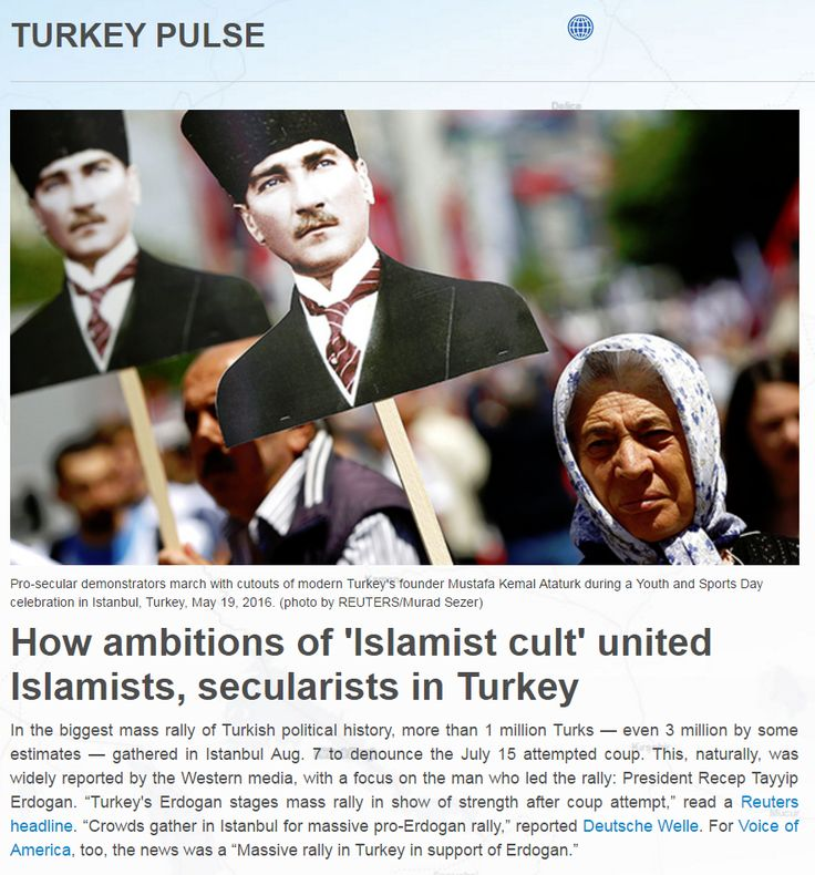"Mustafa Akyol: How ambitions of 'Islamist cult' united Islamists, secularists in Turkey. I asked a prominent secular, left-wing Turkish journalist, ""Which side do you despise more?""   He responded, ""The Gulenists are a bigger threat, for we can vote out Erdogan, but once these guys capture the state, there is no way to get rid of them."" He said that he was more worried about being imprisoned by the Gulenist police and judiciary than by the AKP government."