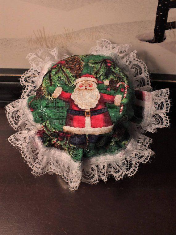 7 Santa Christmas Mason Jar Bonnets Canning Jar Bonnets Canning Jar Gifts Christmas Mason Jars Get Well Gifts