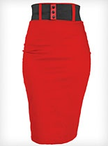 Cherry Bomb High Waist Pencil Skirt I really need to make one of thses thats not so dressy as my satin one...everyday wear...