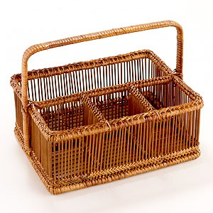 Bamboo Flatware Caddy at Cost Plus World Market