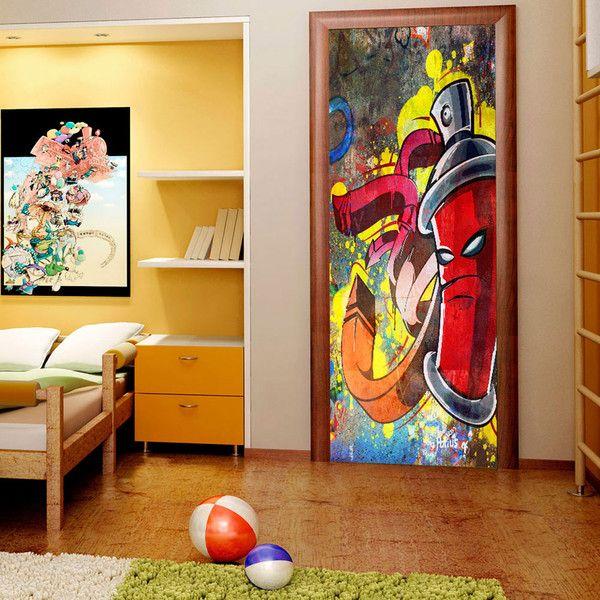 Tapeta na drzwi 100x210 graffiti c-B-0105-a-a - artgeist - Dekoracje #art #design #tapeta #wnętrze #graffiti