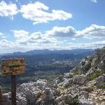 Trip to spain, 2012 The view down to the town of Javea from the top of Montgo
