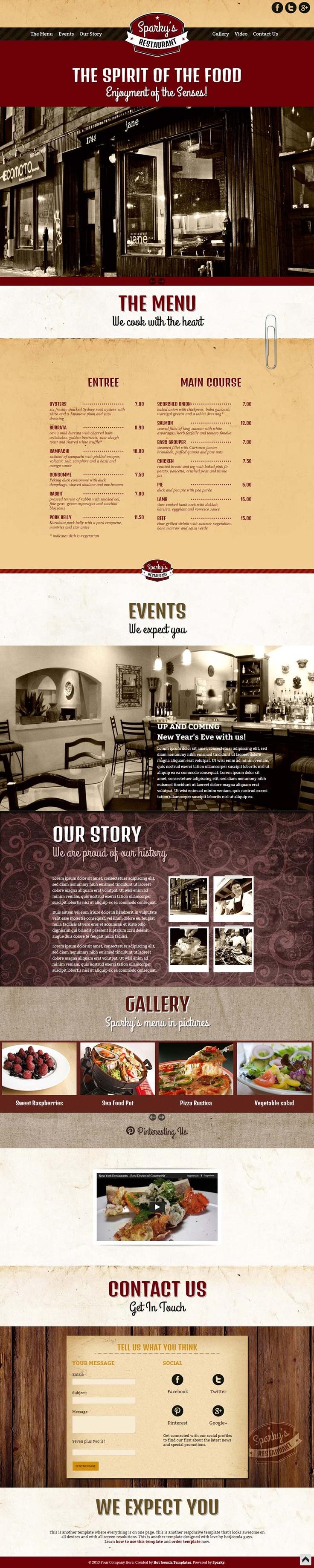 SPARKY'S RESTAURANT  http://zizaza.com/webstore/website/576014