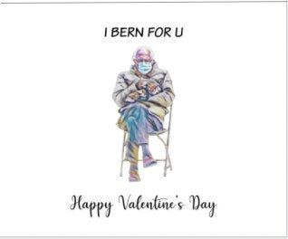 Valentine Day Card Bernie Sanders Mittens I Bern For U By Leacraftdesign On Etsy In 2021 Funny Birthday Cards Valentine Day Cards Valentine Gifts