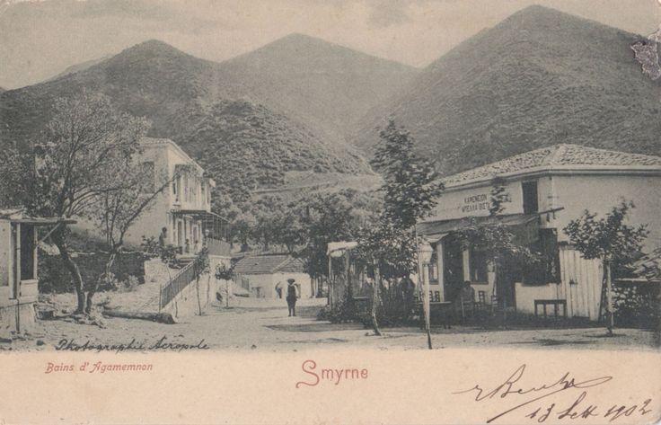 TURKEY 1902 VINTAGE IZMIR SMYRNA POSTCARD TO ITALY 'BAINS D'AGAMEMNON' | eBay