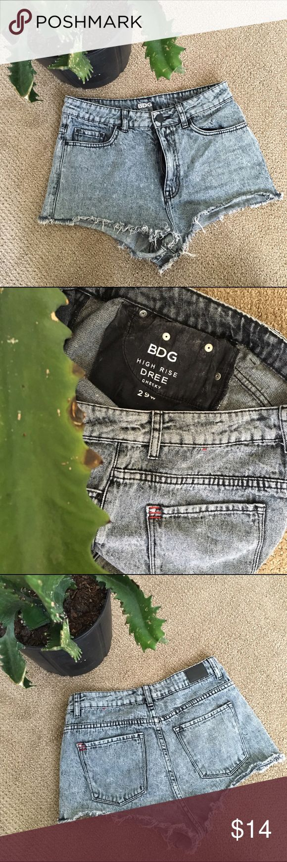 BDG Acid Wash Shorts Dolphin cut acid wash short shorts by BDG for Urban Outfitters. Barely worn, in excellent condition. Just a little too cheeky for me 🙃 Feel free to ask any questions! ✨🌜 Urban Outfitters Shorts Jean Shorts