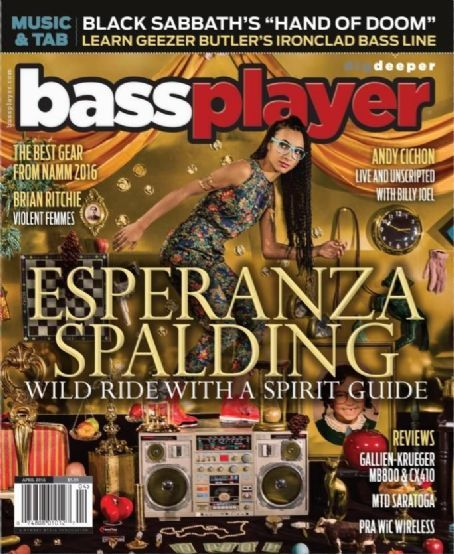Esperanza Spalding - Bass Player Magazine Cover [United States] (April 2016)