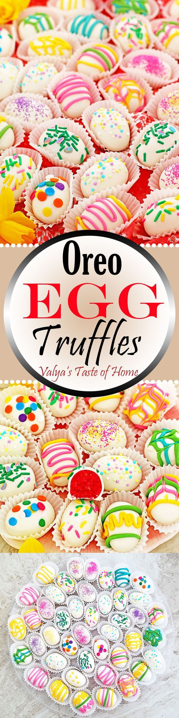 These Oreo Egg Truffles make a for adorable and inexpensive gifts for kids to give to their friends or take to school. They're incredibly delicious and 100% shareable! If you are having a family Easter brunch, with more kids in the house, this dessert will fly off the table before you will know it.