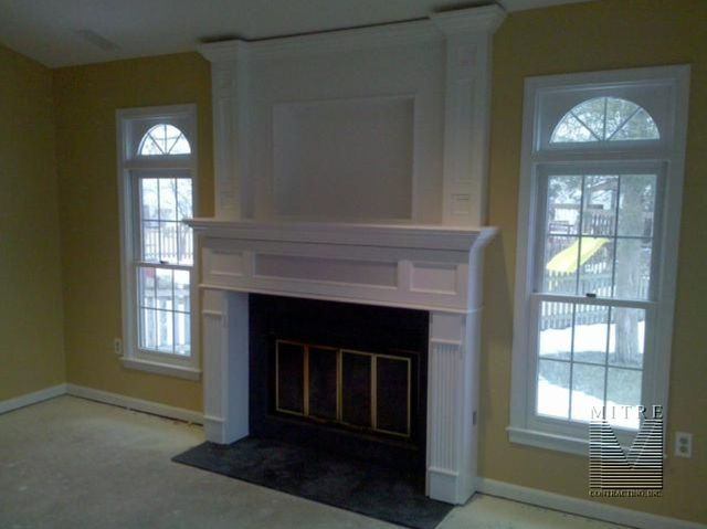 Mantel With Overmantel And Hidden Storage Fireplace