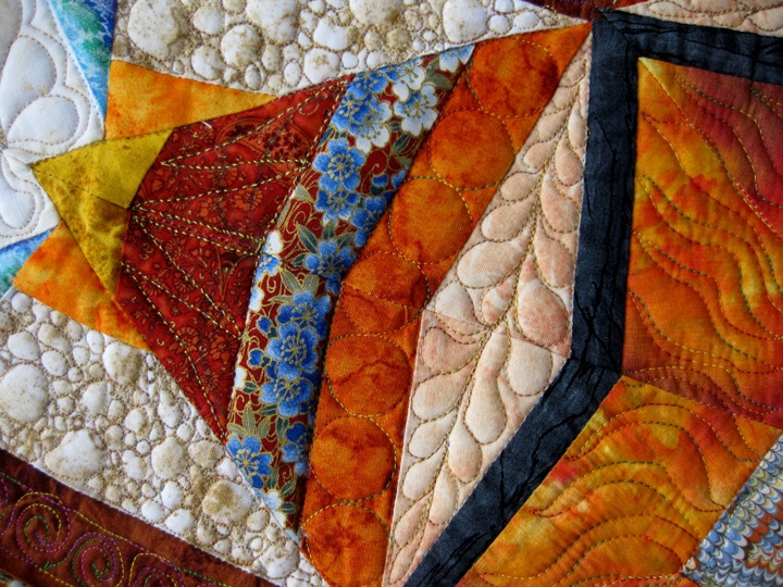 Detail of Kaleidoscope quilt