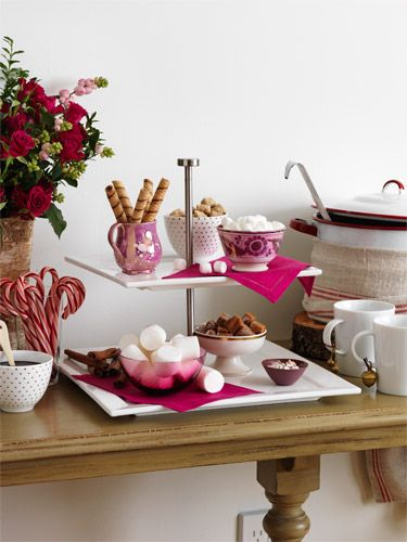 Holiday Appetizers Decor - Christmas Table Decoration Ideas - Woman's Day