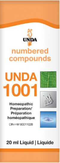 Unda 1001 Nervous Exhaustion & Insomnia Unda 1001 has an action on the nervous and the endocrine systems. This remedy provides nervous system drainage in conditions where nervous excitation caused by overexertion results in nervous spasms and insomnia.
