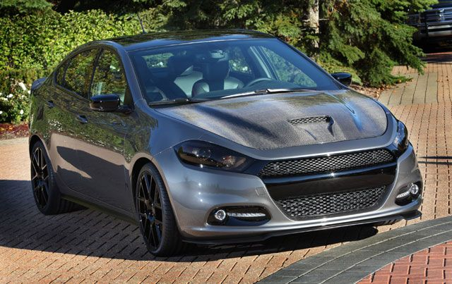 Dodge Dart -- Black, carbon fiber, and more black—even the headlights are tinted on this 2013 Dodge Dart.