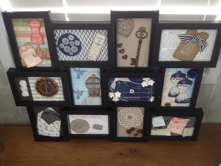 My first try at creating a display board, Stampin' Up papers and stamps used.