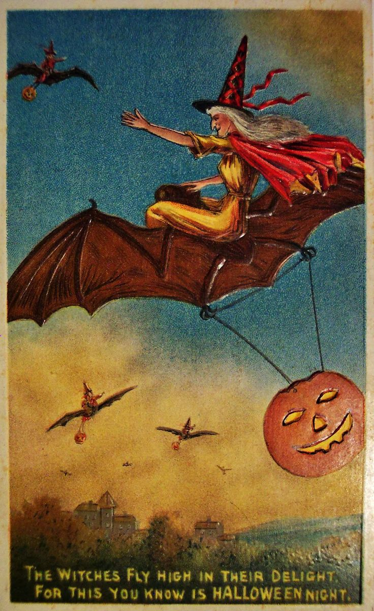 312 best halloween vintage post cards images on pinterest happy vintage halloween greeting card kristyandbryce Images