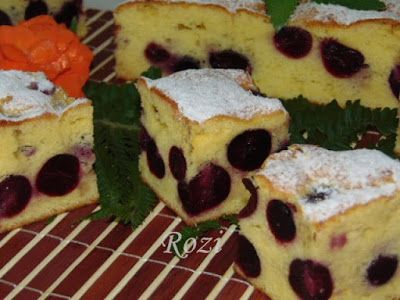 Rozi Erdélyi konyhája: Cseresznyés kevert sütemény