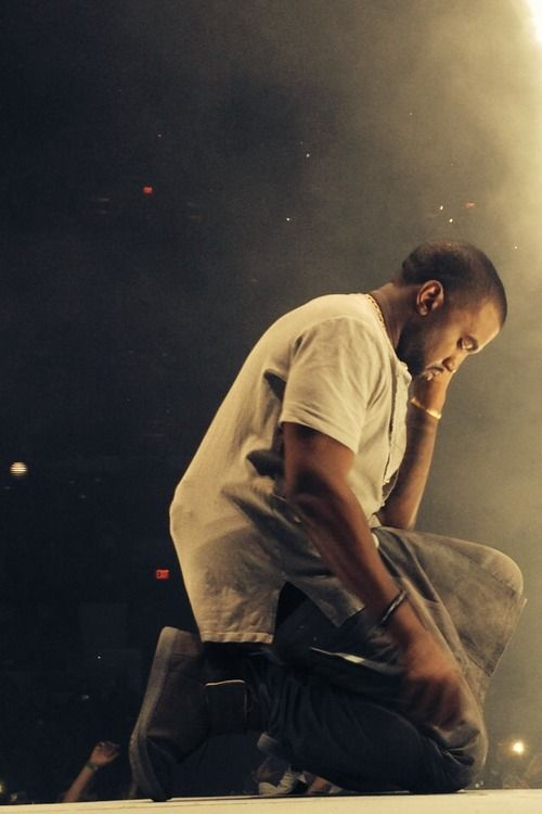 """Kanye West // Ten years ago today he dropped his first album, """"The College Dropout"""". Love him or hate him, the man is a genius."""