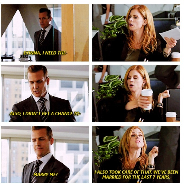 """I cannot be myself without Donna"" Too bad, I have to wait for January to see these people again. :("