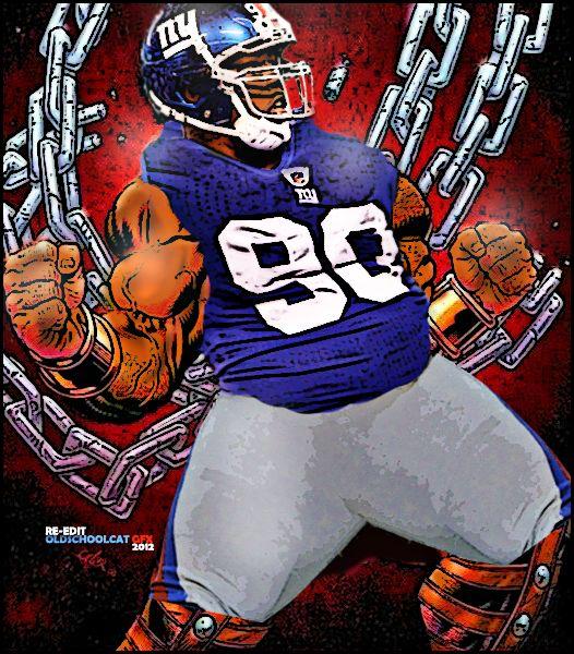 New York Giants Jason Pierre-Paul 90 By OldSchoolCat