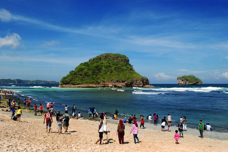 Goa China Beach lies at Trowotratih hamlet, Sitiarjo Village, Sumbermanjing Wetan Sub-district, Malang Regency, East Java, Indonesia.