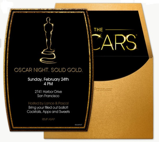 Party Guide: Decorate Your Digs For an Oscars Bash: Skip snail mail and enjoy instant gratification by sending one of these Oscar-themed online invitations.