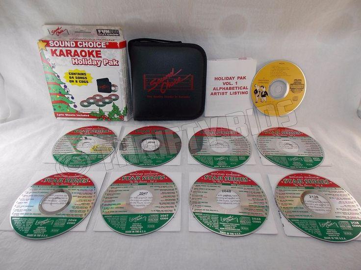 Sound Choice Karaoke Holiday Pack Pak 64 Songs 8 CDG LyricSheets Case Bonus Disc #SoundChoice