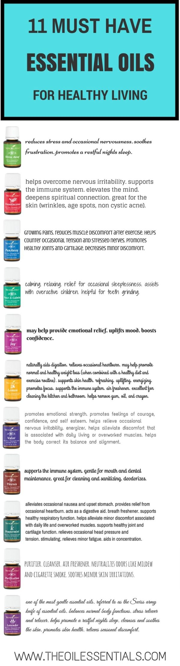 11 Must Have Essential Oils | The Oil Essentials | How-Tos of Young Living Essential Oils by berta