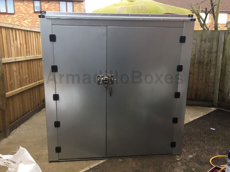 8ft long by 6ft wide Double Motorcycle storage shed large motorcycle security motorbike storage scooter shed | Armadillo Boxes