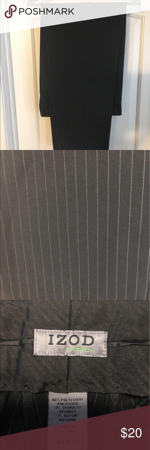 Black pinstripe Izod golf pants Black pinstripe golf pants from Izod. Worn only a few times. Good condition Izod Pants Dress