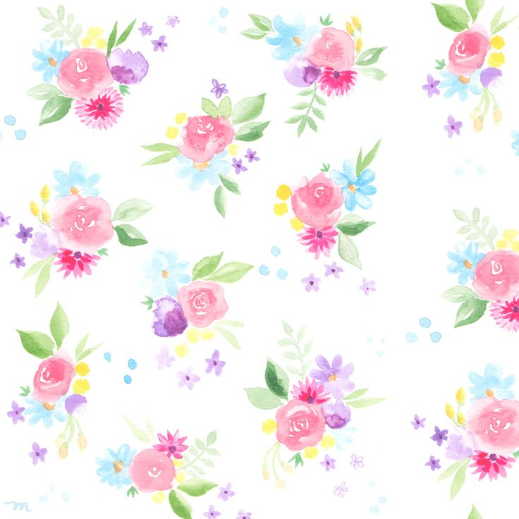 Freebie! April Watercolor Floral Download For Your