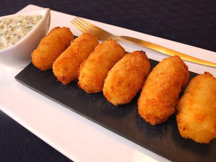 Cocinando con Lola García: Croquetas de bacalao con salsa tártara