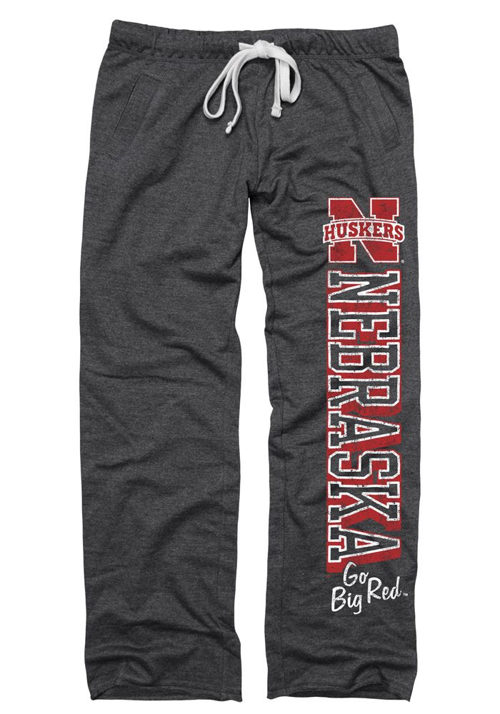 Nebraska Cornhuskers Womens Sweatpants - Black Nebraska Huskers Boyfriend II Sweats