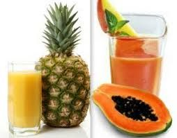 Digestive Enzyme Detox Smoothie. It has pineapple and papaya which contain digestive enzymes that help to ease the burden of the digestion process.