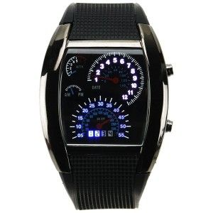 LED Car Speed Meter Dial Watch Feel the need for speed? Watch the minute hand of this awesome watch zoom from zero to sixty in one hour. A Must-Have for car enthusiasts.  http://awsomegadgetsandtoysforgirlsandboys.com/awesome-gadgets-for-guys/ Awesome Gadgets For Guys: LED Car Speed Meter Dial Watch