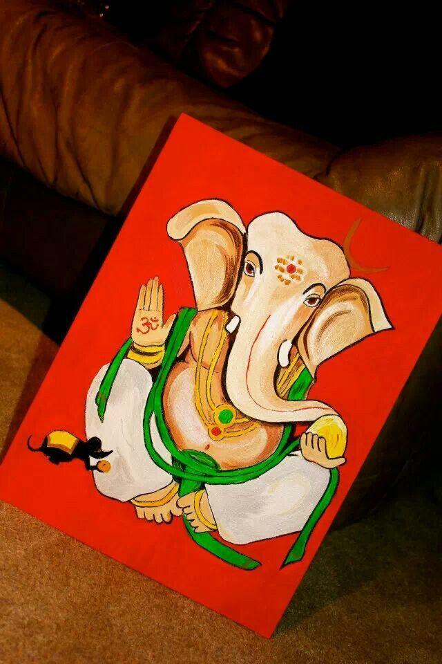Ganesha painting on canvas