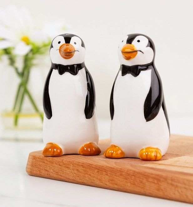 Penguins Mary Poppins Salt and Pepper Ceramic Shakers