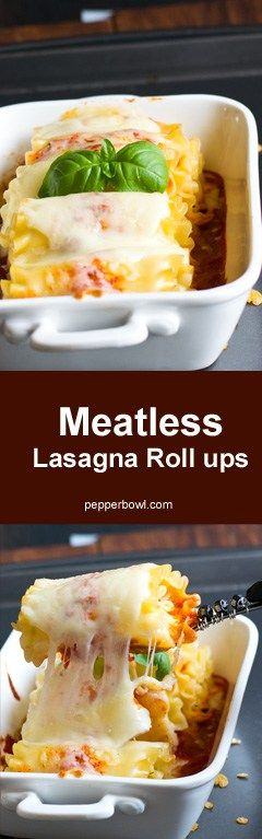 """"""" Easy Meatless Lasagna Roll ups Recipe"""" for you, which does not take much of your time, with step by step pictures and instruction."""